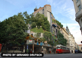 Residental building of the city of Vienna, hundertwasserhouse