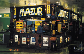 Mazur taxi booth and office at the airport